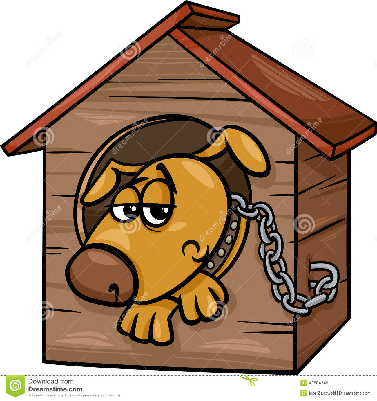dog in doghouse clipart - photo #30
