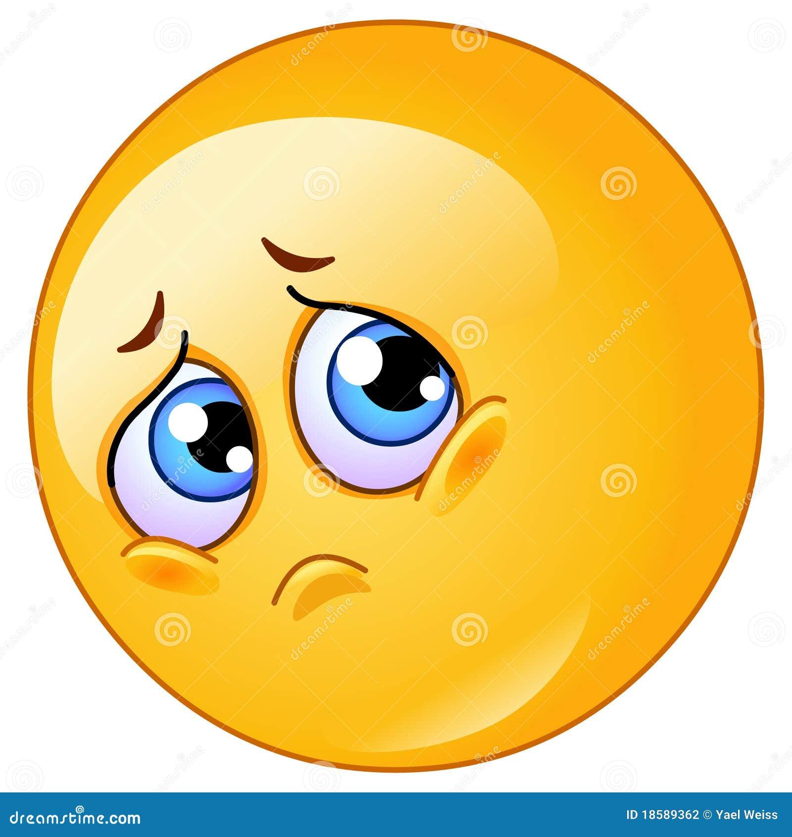 Cute Sad Face Emoticon