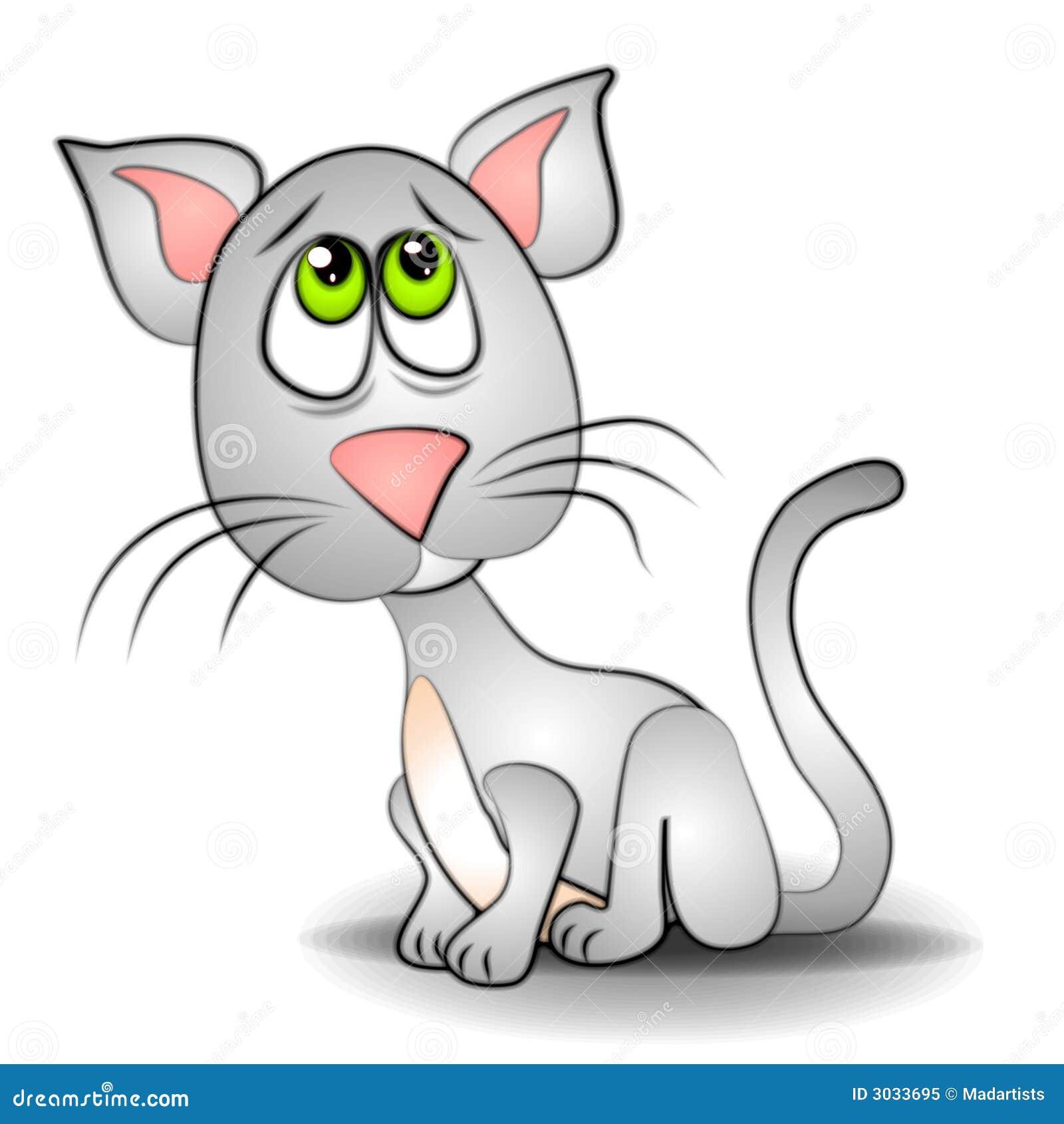 Sad Eyes Cat Kitten Clip Art