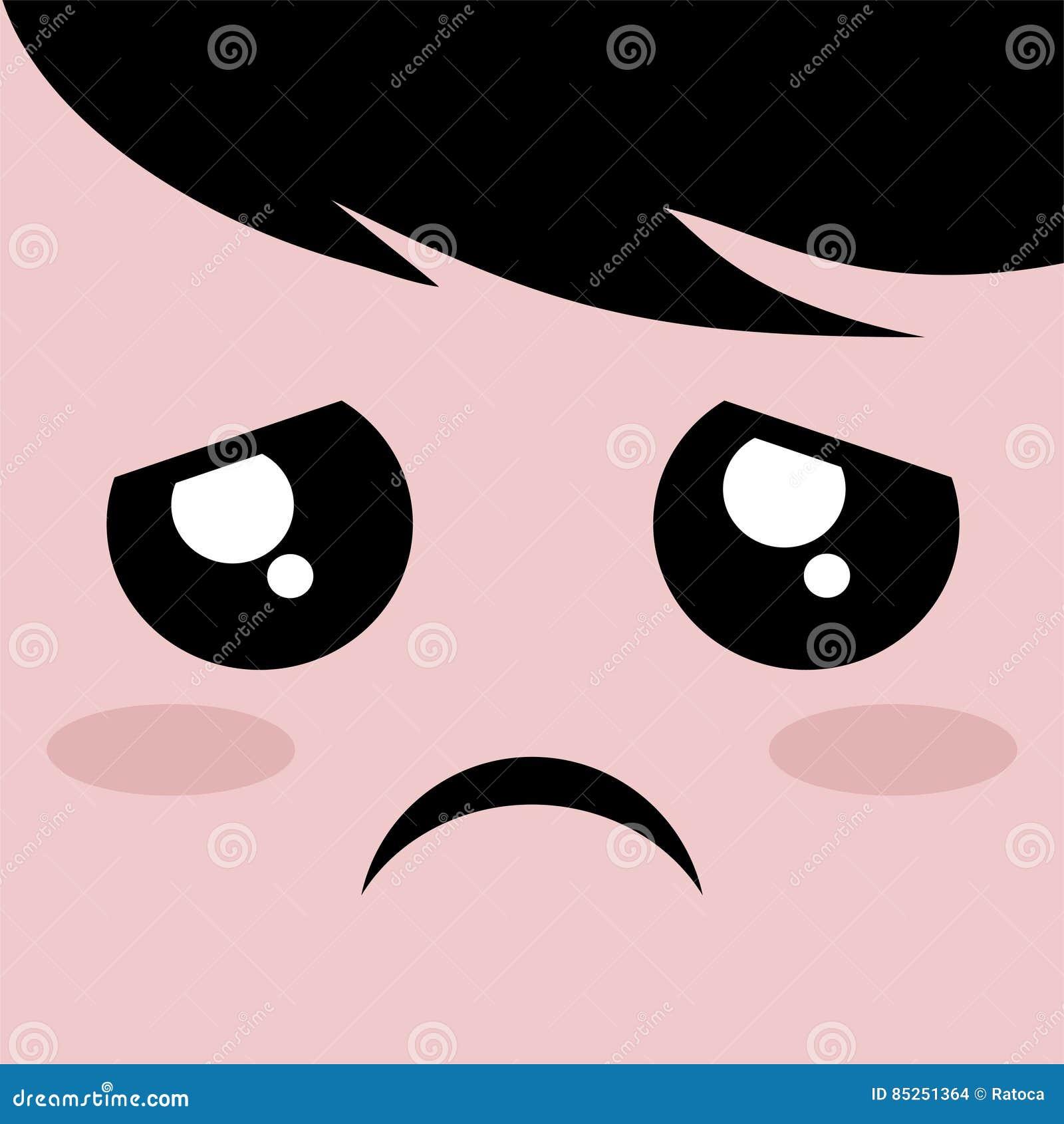 Sad Face Draw Stock Vector Illustration Of People Illustration