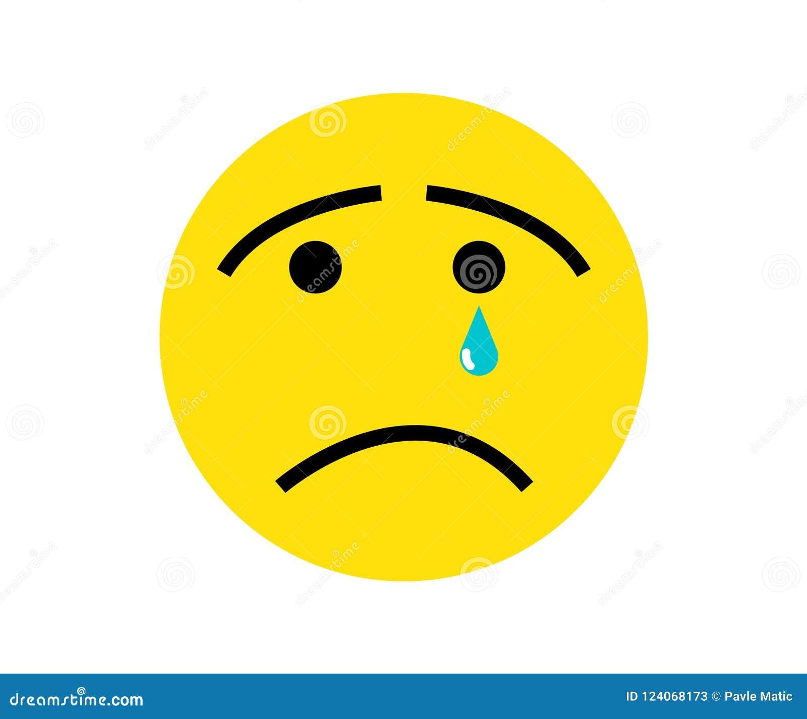 sad face emoticon stock vector illustration of design 124068173