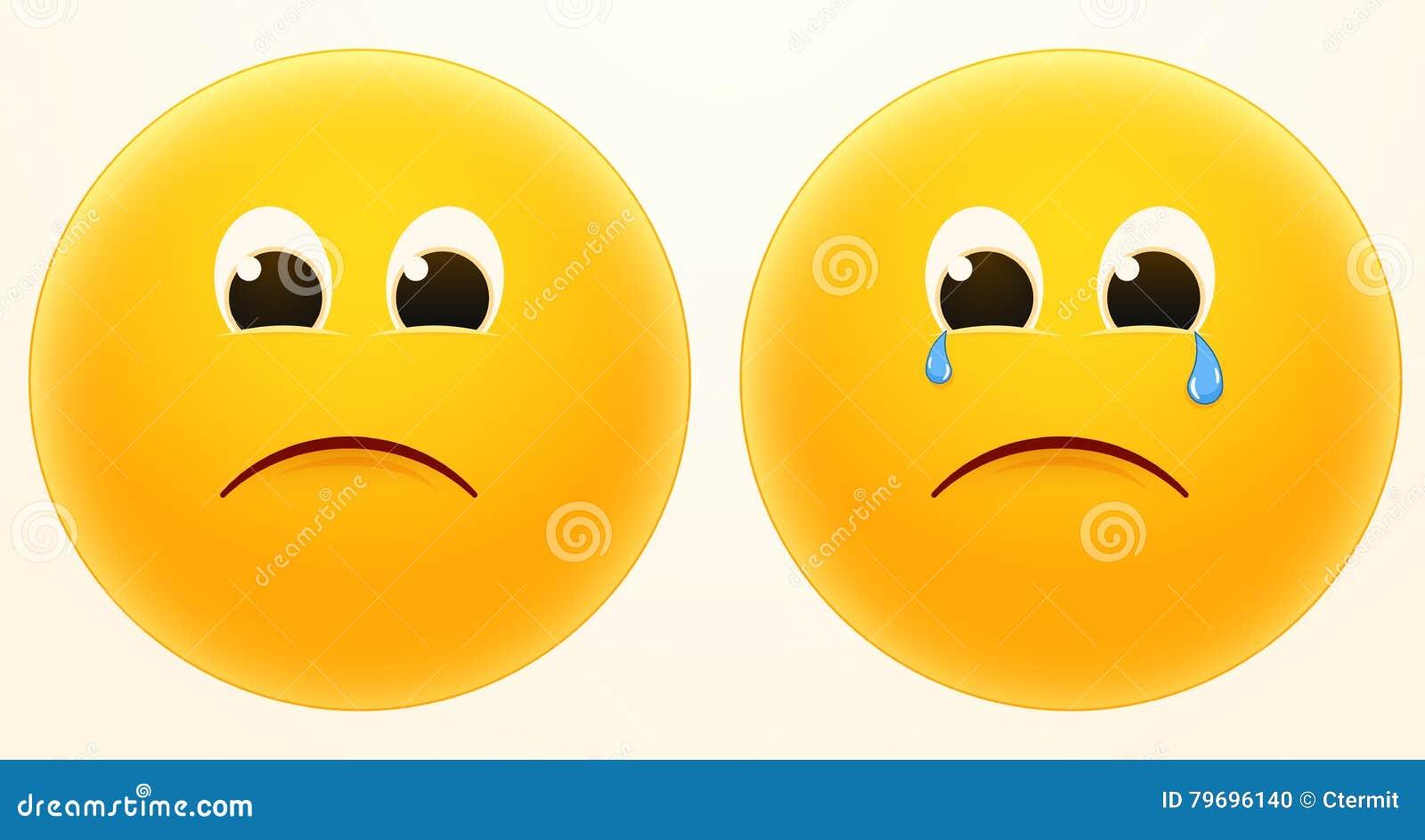 Sad smiley faces, melancholy smilies : Big