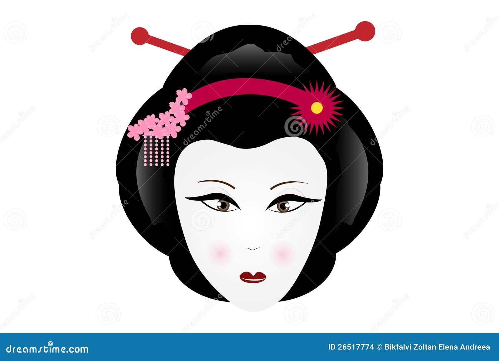 sad geisha stock images