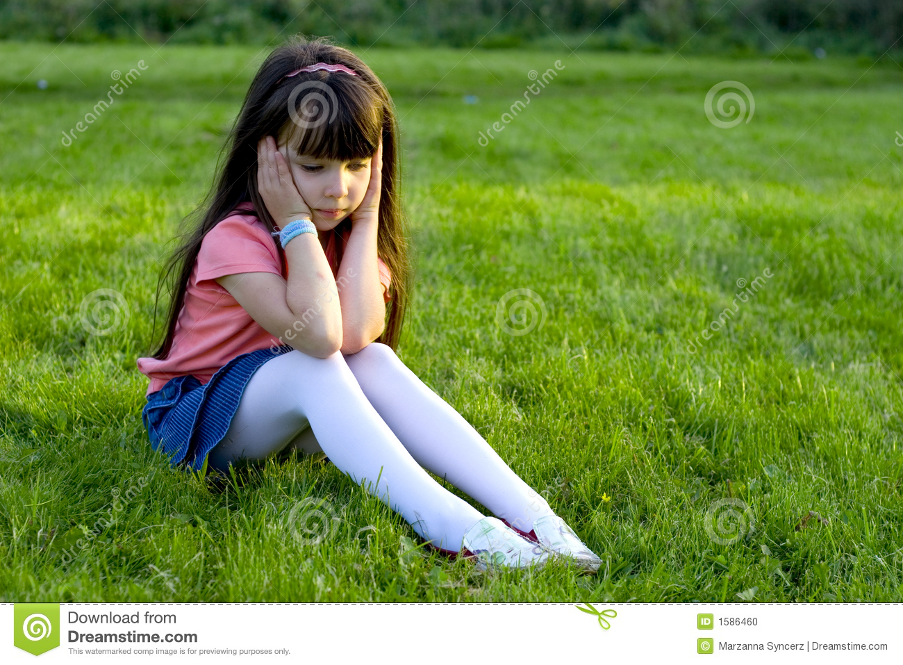 sad girl stock photo image of apprehensive female attractive