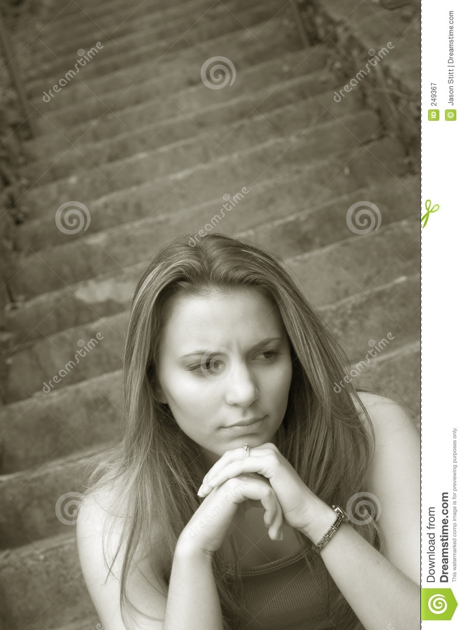Lonely And Depressed >> Sad Girl stock image. Image of teens, mourning, young, alone - 249367