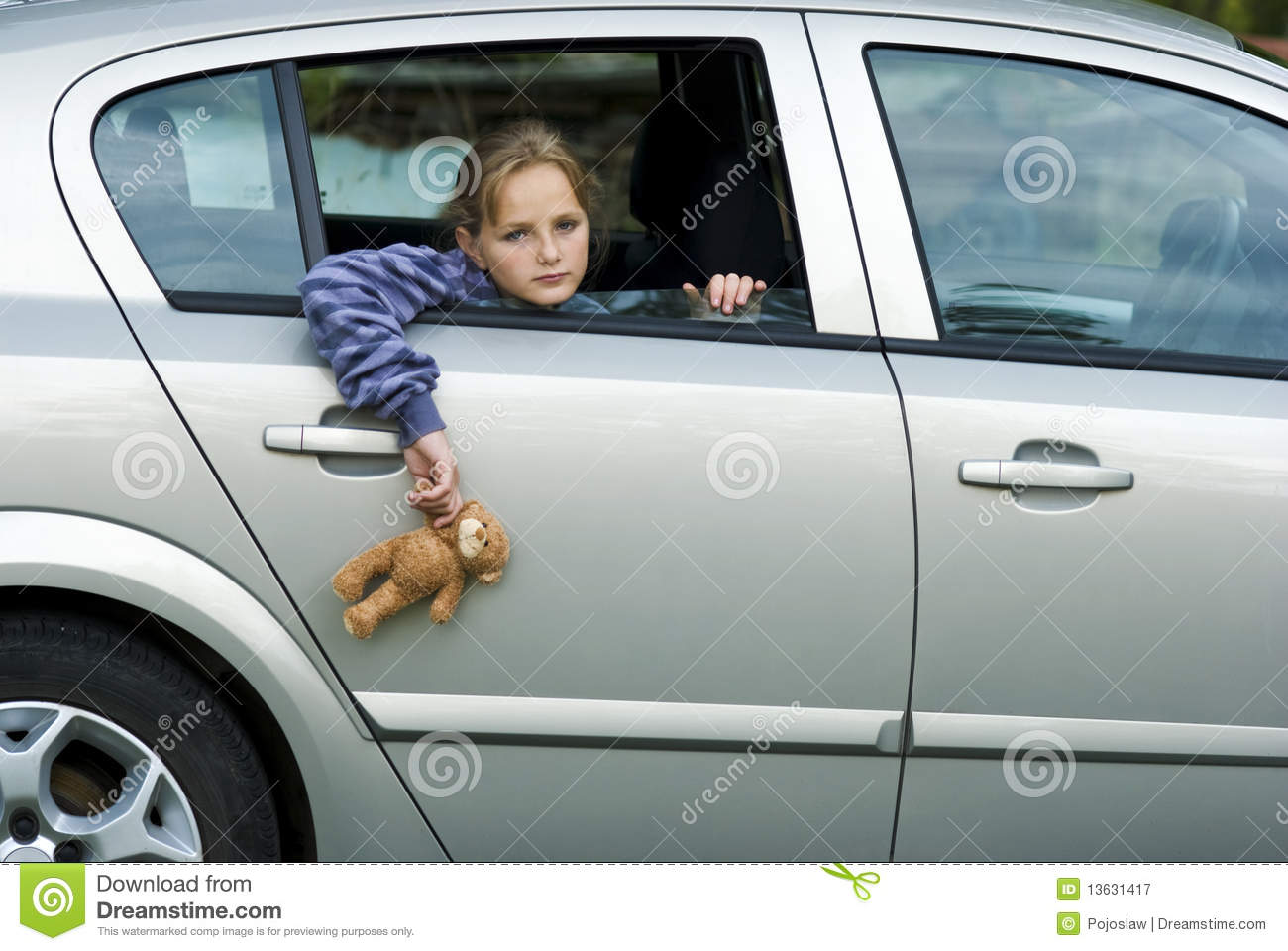 Sad Girl In Car Royalty Free Stock Photography Image
