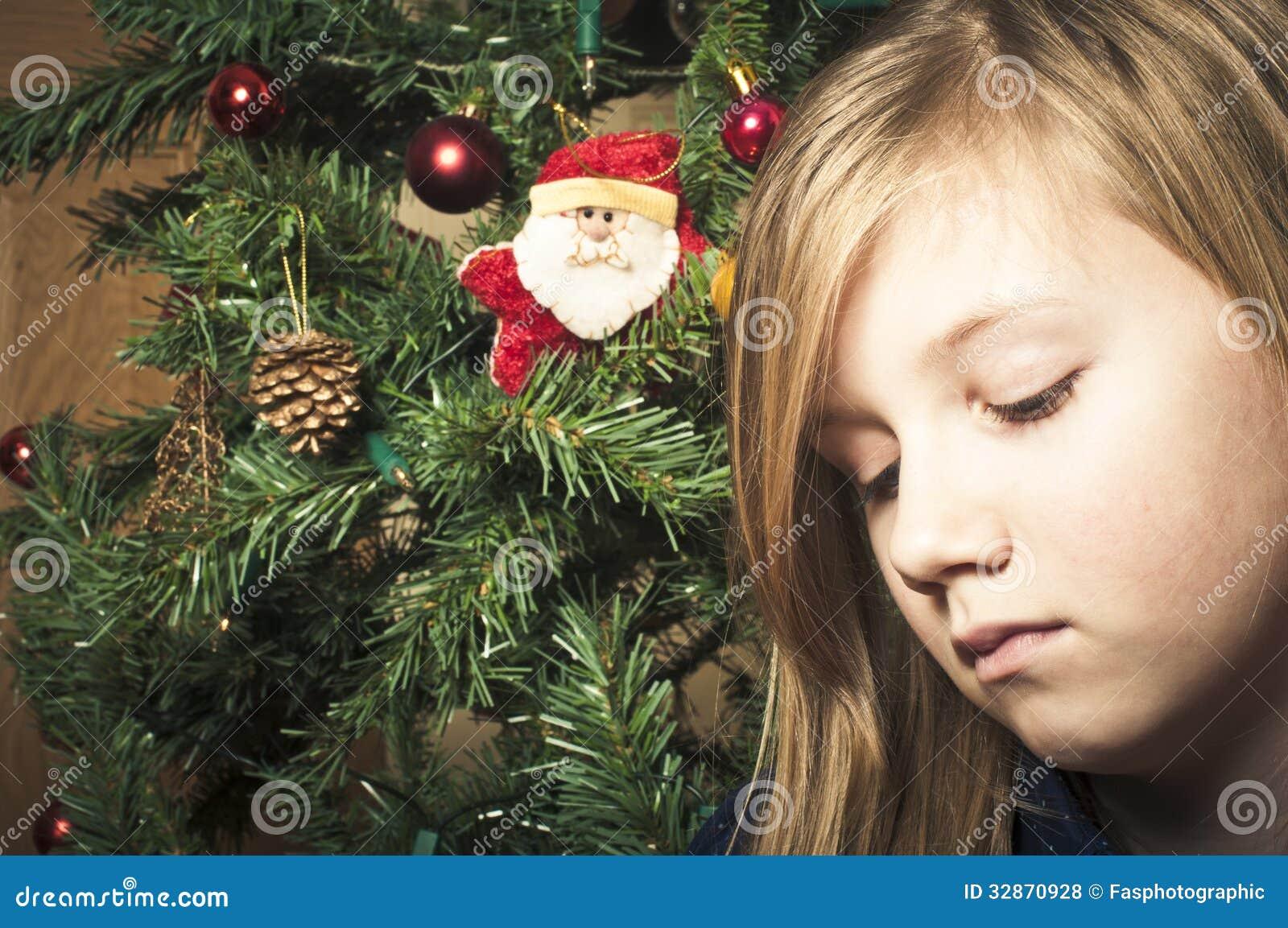 Sad Girl At Christmas Royalty Free Stock Photos - Image: 32870928