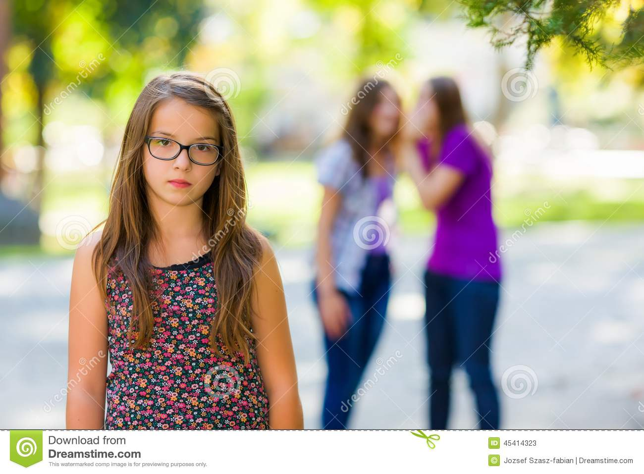 Teenager Talking About Her Problems Stock Image