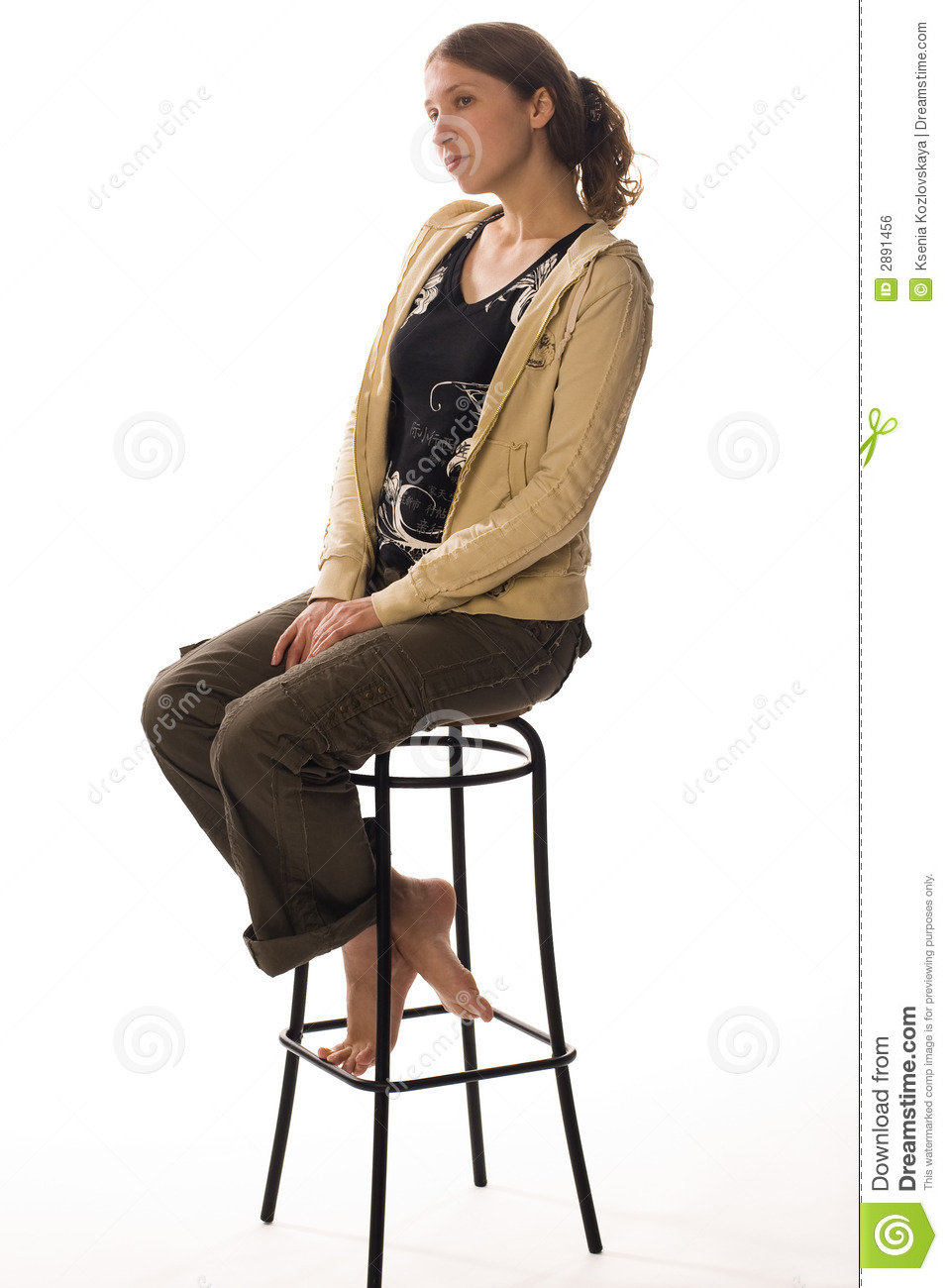 Sad Girl Sits On Stool Royalty Free Stock Image Image  : sad girl sits stool 2891456 from www.dreamstime.com size 957 x 1300 jpeg 179kB