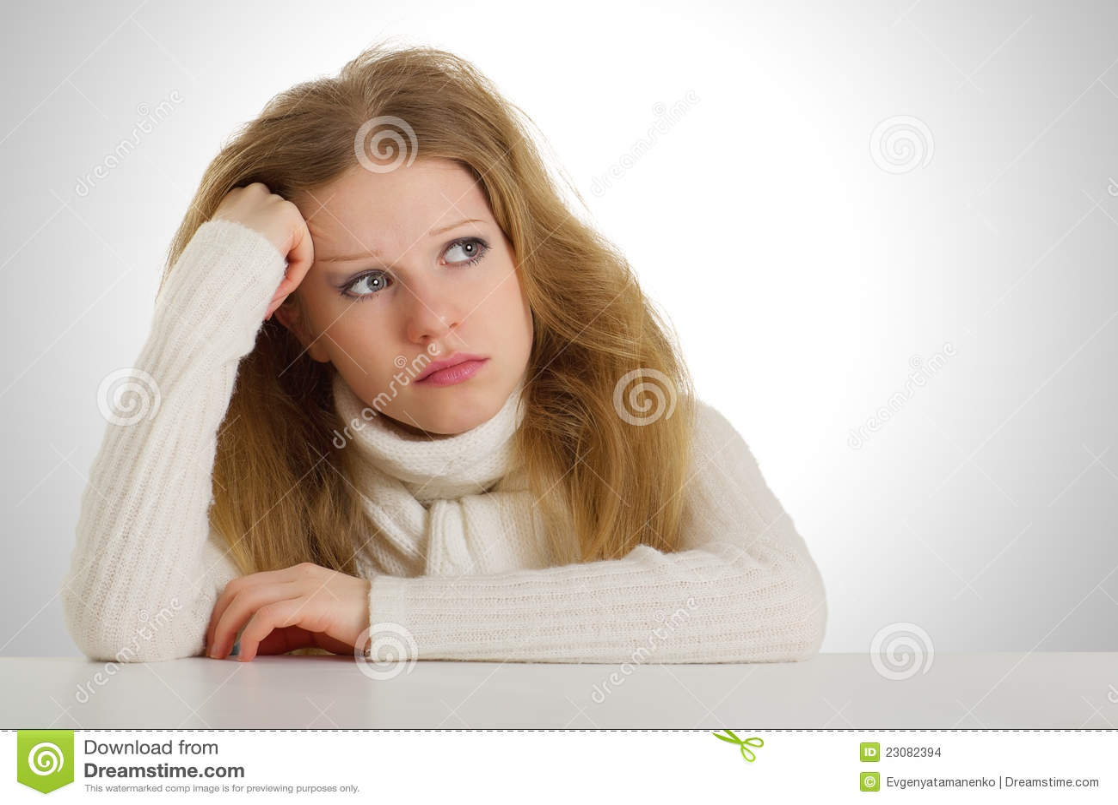 Sad Girl Sitting Stock Images - Image: 23082394