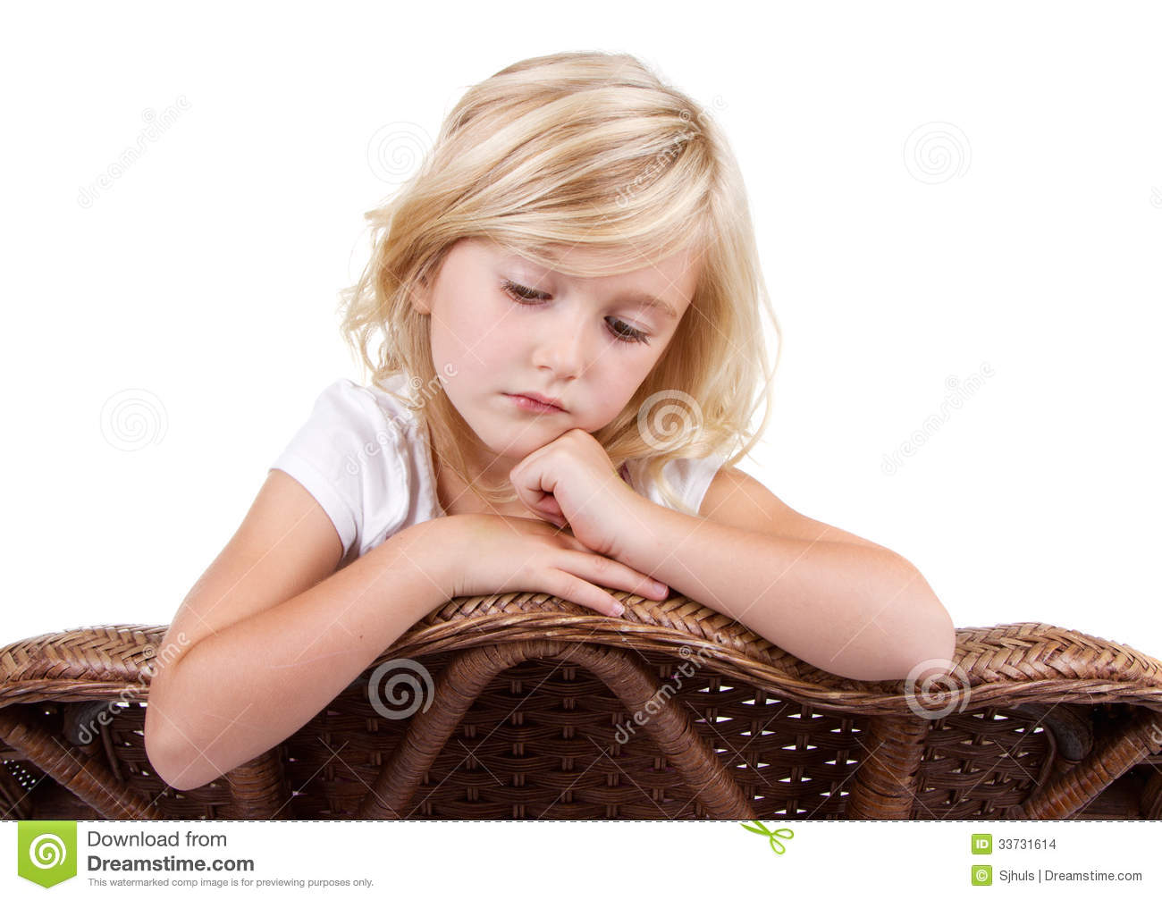 Sad Girl Sitting In Chair Stock Photo Image Of Brown -6943