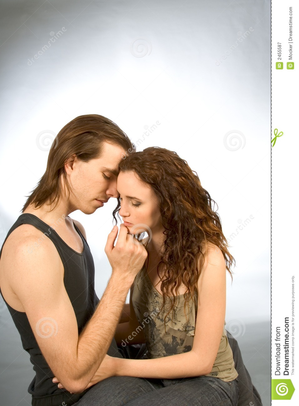 Sad Harmony Of Love Man And Woman comforting Royalty Free ...