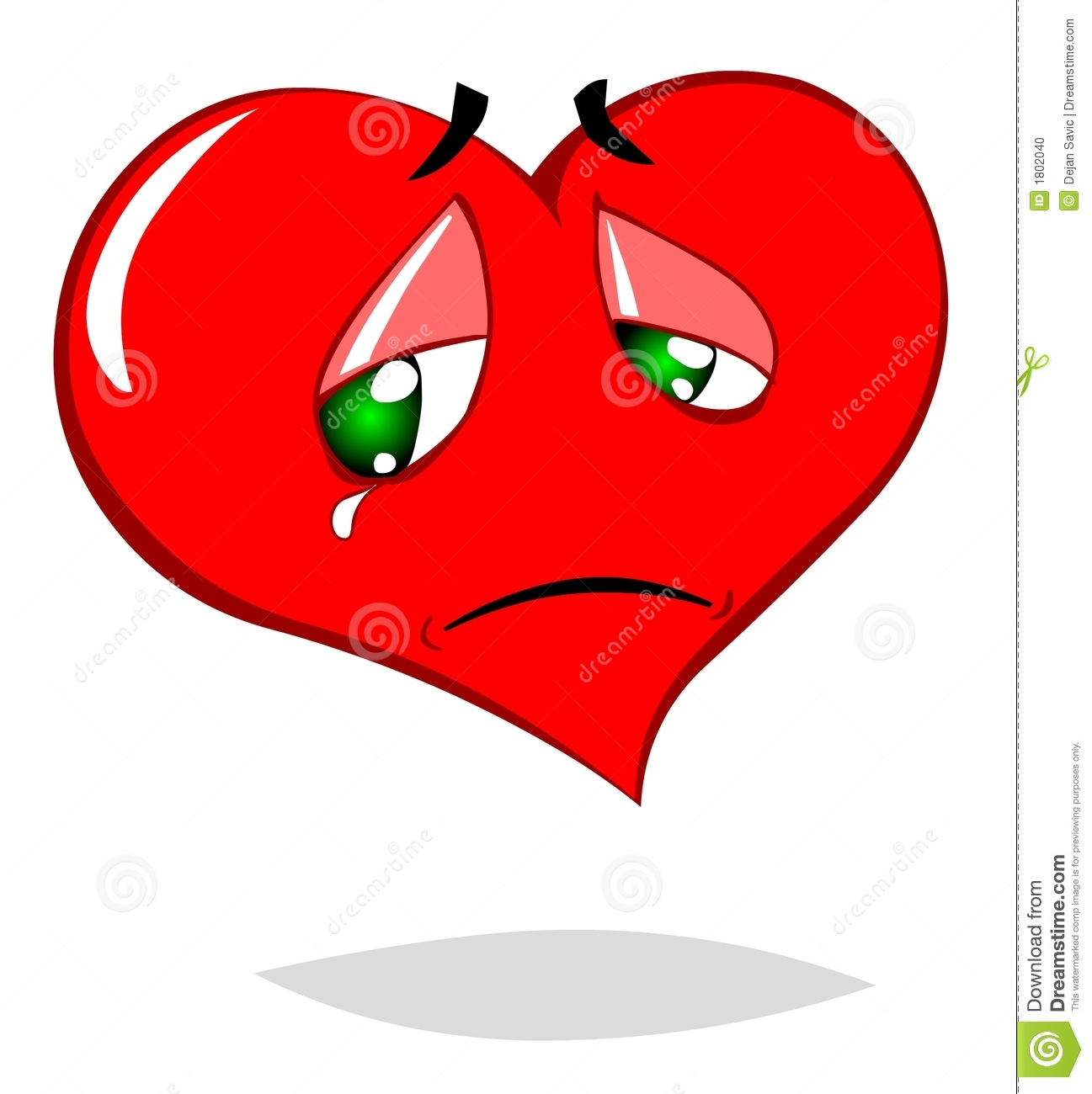 Sad Heart Stock Photo - Image: 1802040