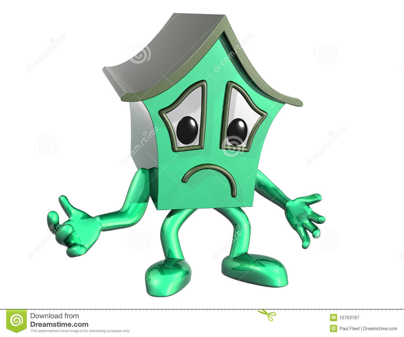 Sad House Royalty Free Stock Photography - Image: 10763197