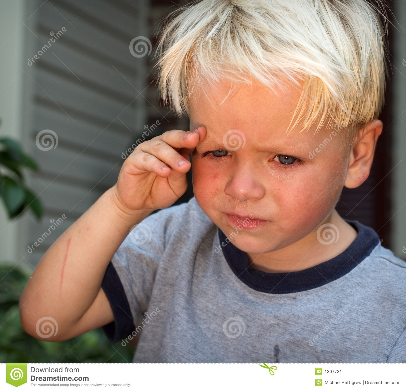 Sad Kid Stock Image Image 1307731