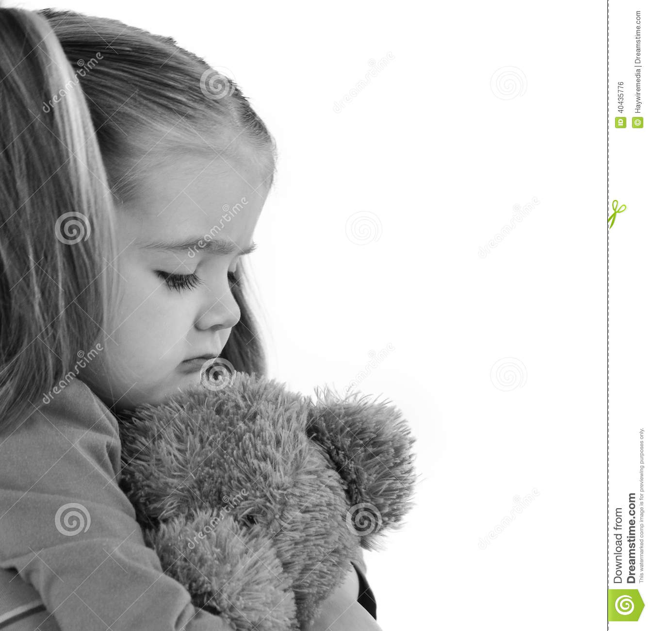 Sad Little Child Holding Teddy Bear Stock Photo - Image of ...Little Girl With Teddy Bear Black And White