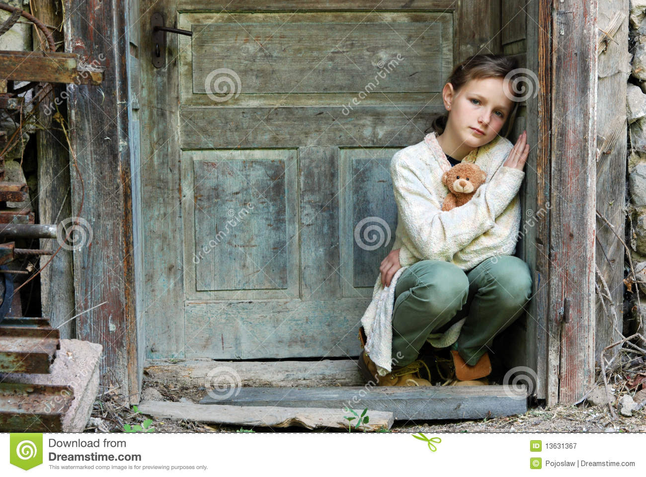 sad little girl royalty free stock photography image