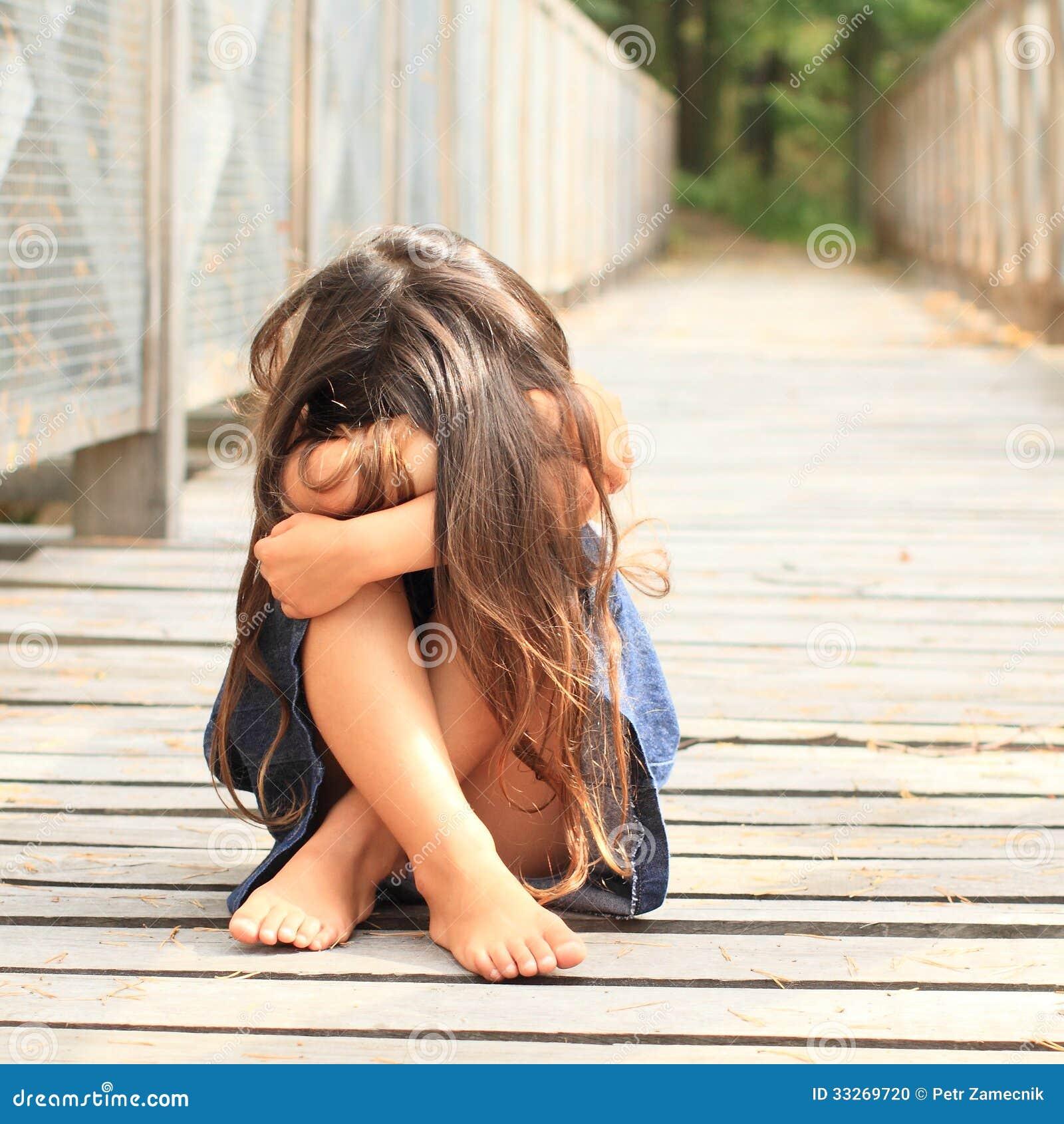 sad little girl stock photo image 33269720