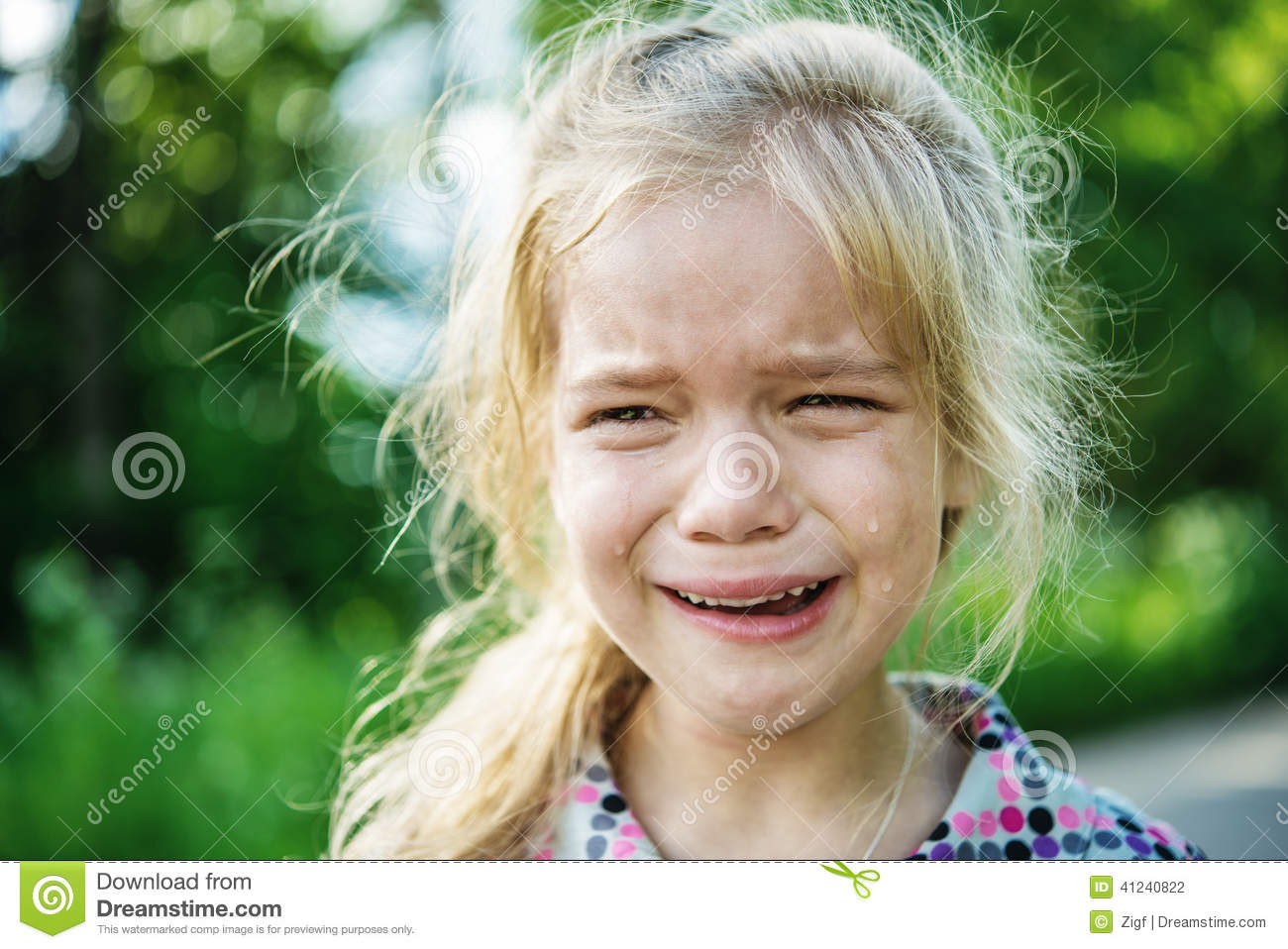 Sad little girl crying stock photo image of people - Sad girl pictures crying ...