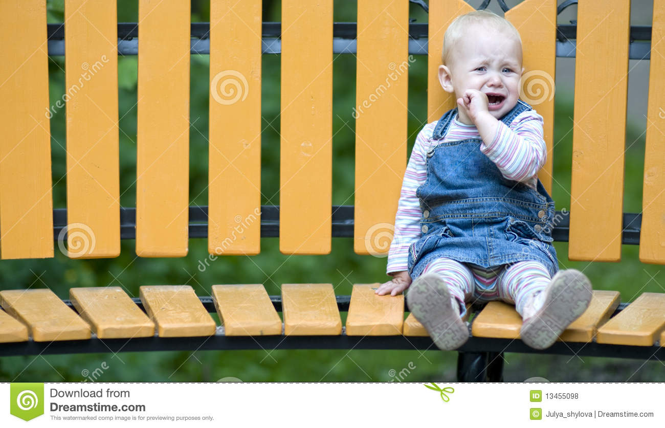 Girl Sitting Alone On Bench