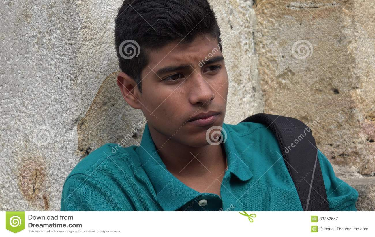 Sad And Lonely Teen Male Student
