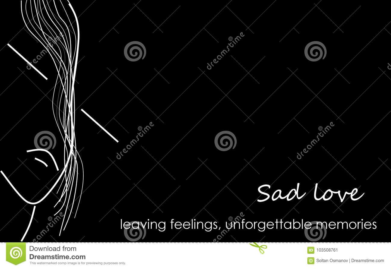 The photo shows sad love sad parting leaving feelings unforgettable memories abstract background illustration