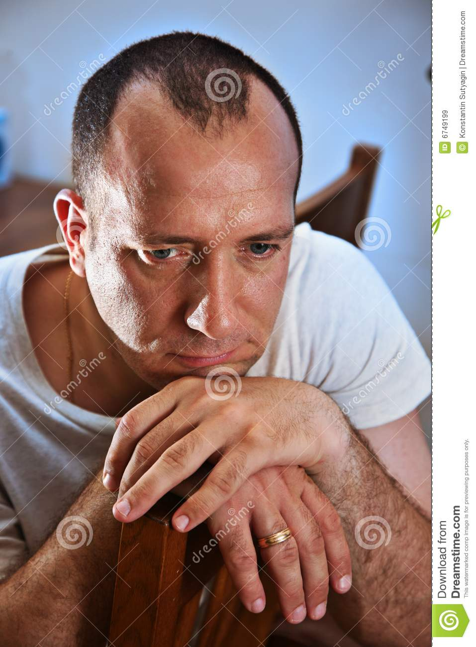 Sad Man Thinking Royalty Free Stock Images - Image: 6749199
