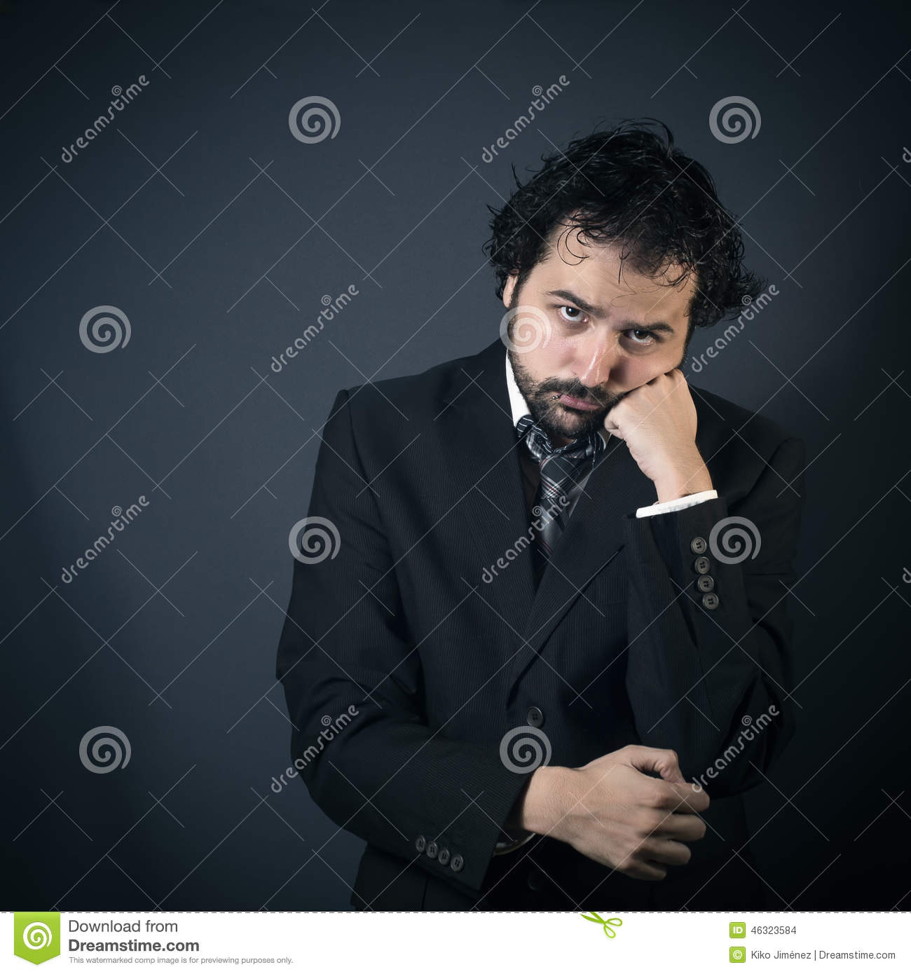 Sad Man Thinking Stock Photo - Image: 46323584