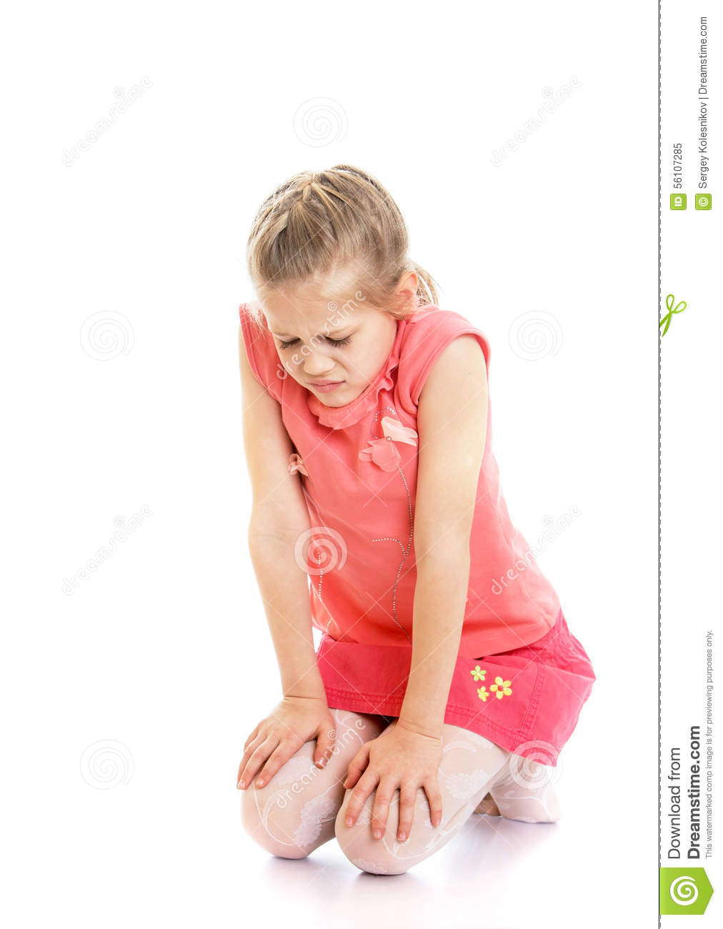Sad Girl Sitting Alone Outside Stock Photos Sad Girl: Offended Child And Toy Royalty-Free Stock Photo