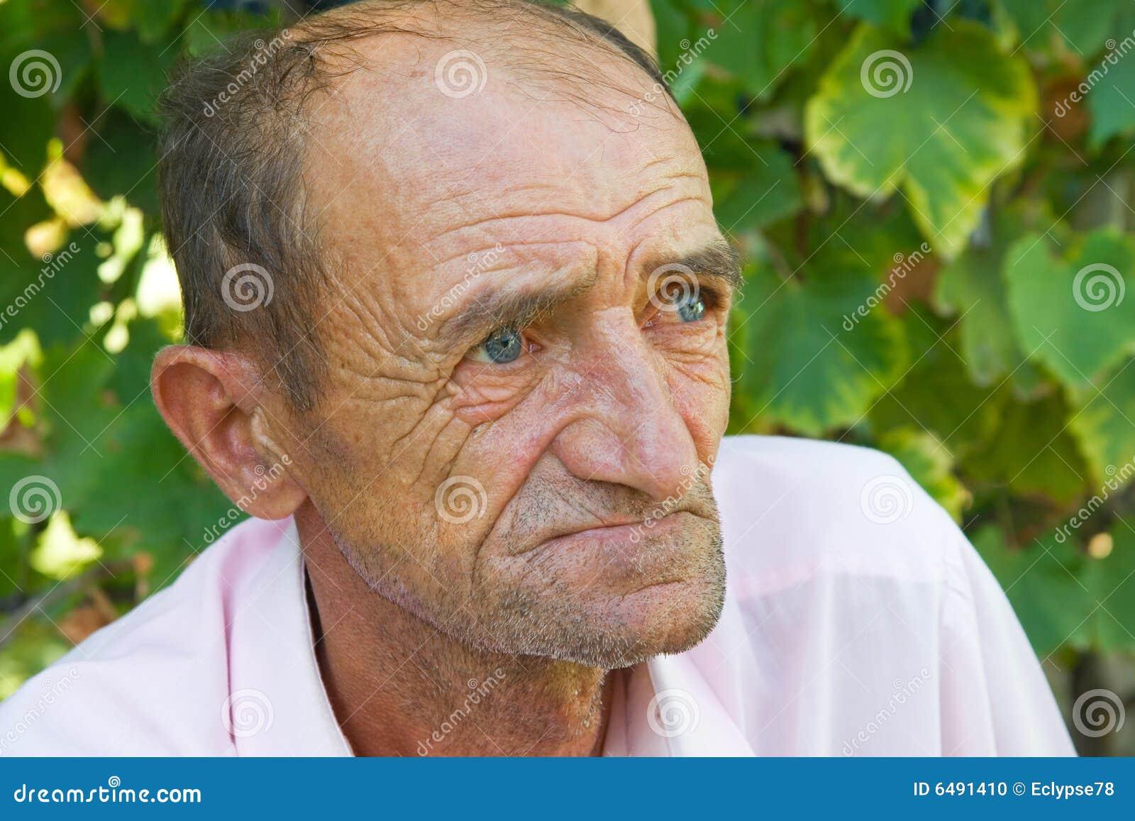 Sad old man