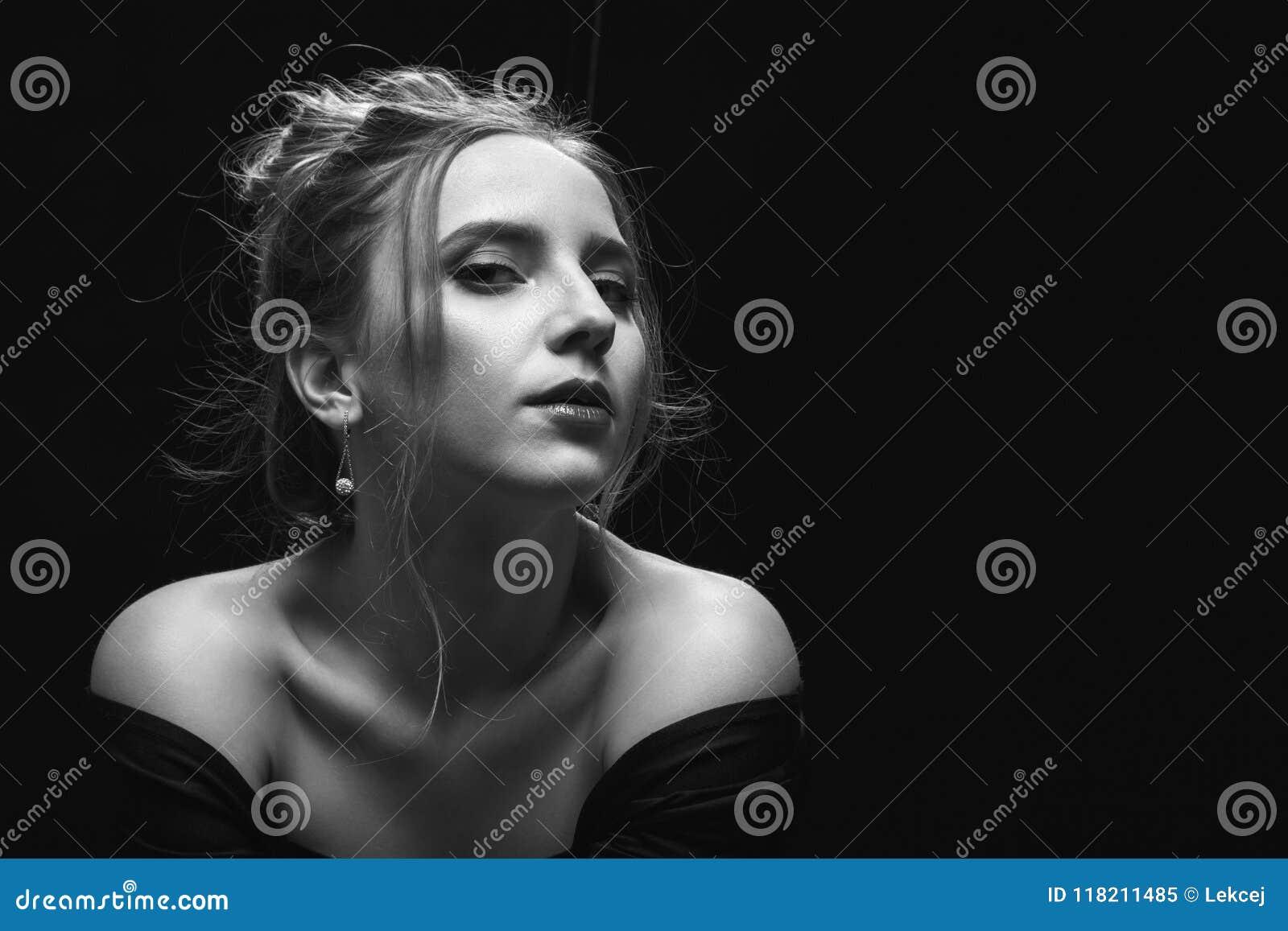 Sad pensive young