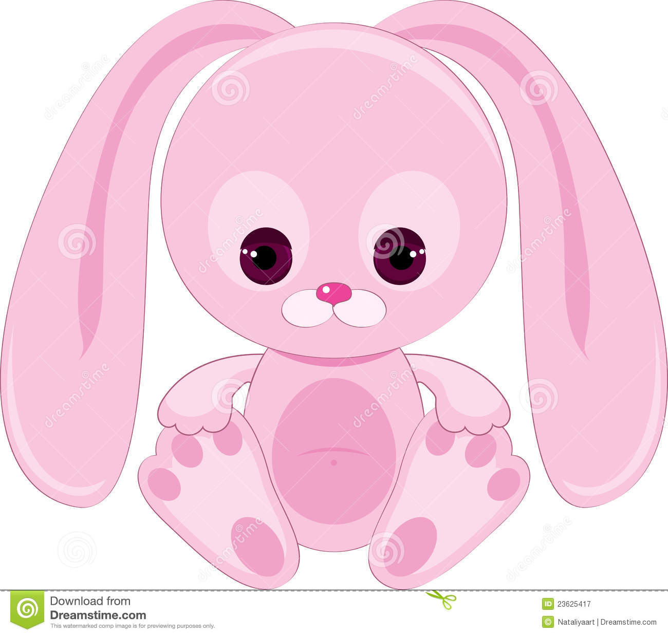 Sad Pink Bunny Royalty Free Stock Photography - Image ...