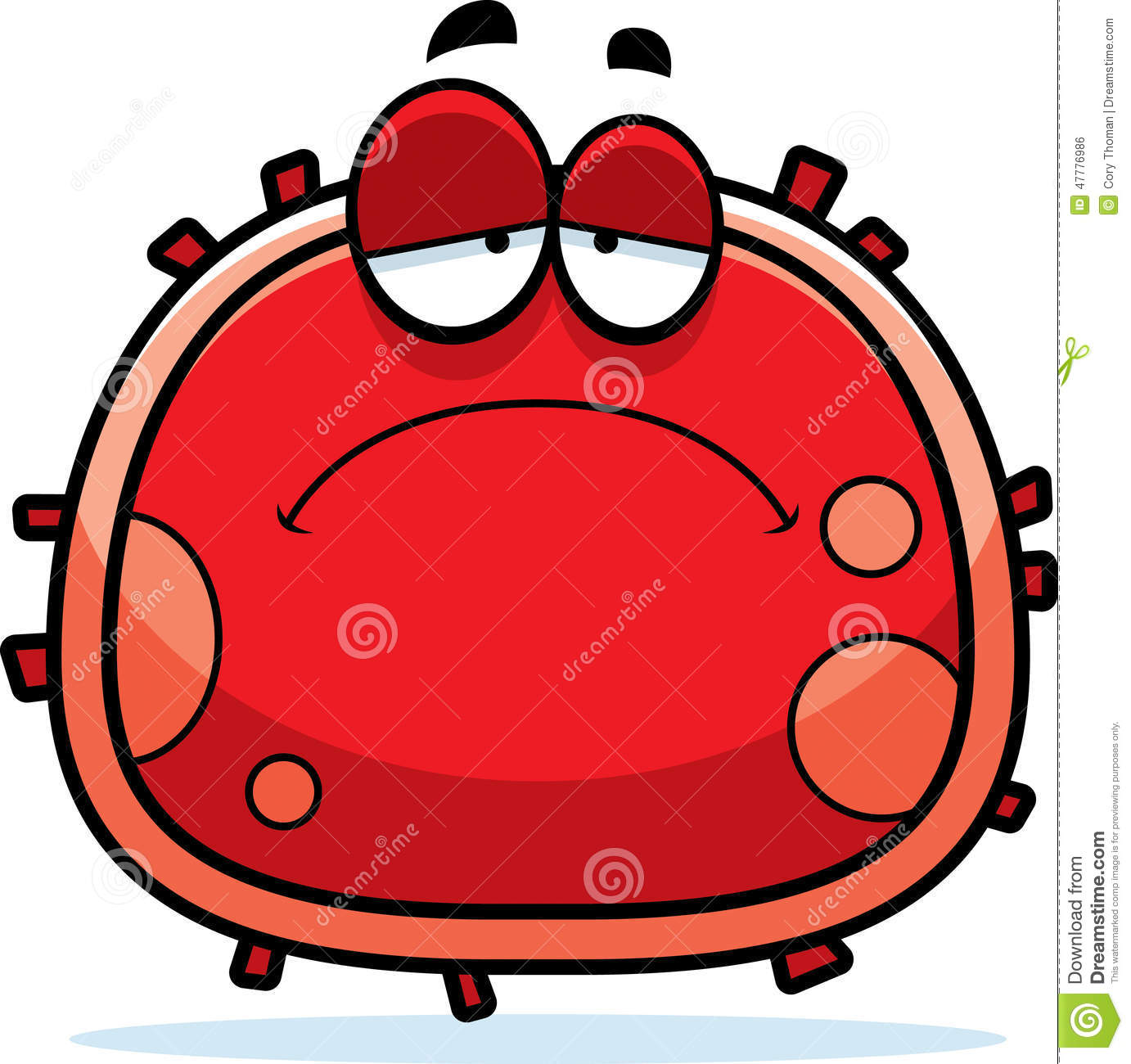 ... illustration of a red blood cell looking sad mr no pr no 0 507 0