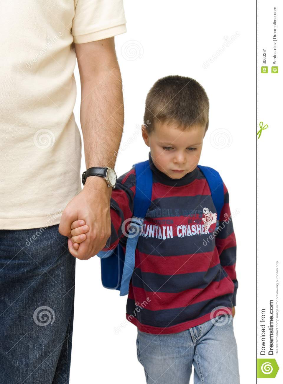 sad school boy stock image image 3060381