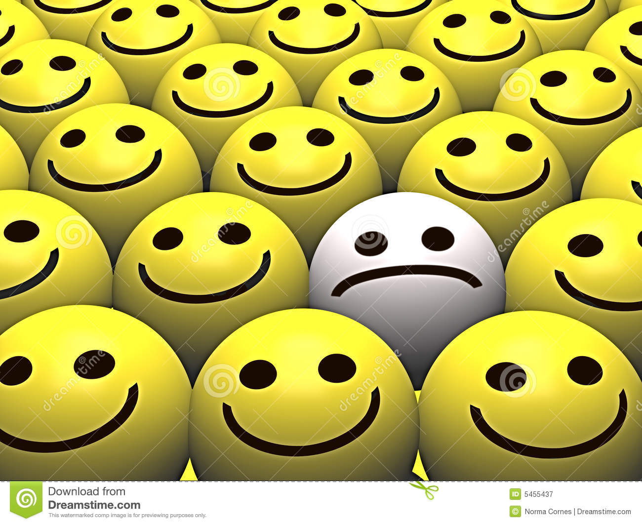 sad smiley in a crowd of happy smileys royalty free stock wing clip art decal wing clipart pic
