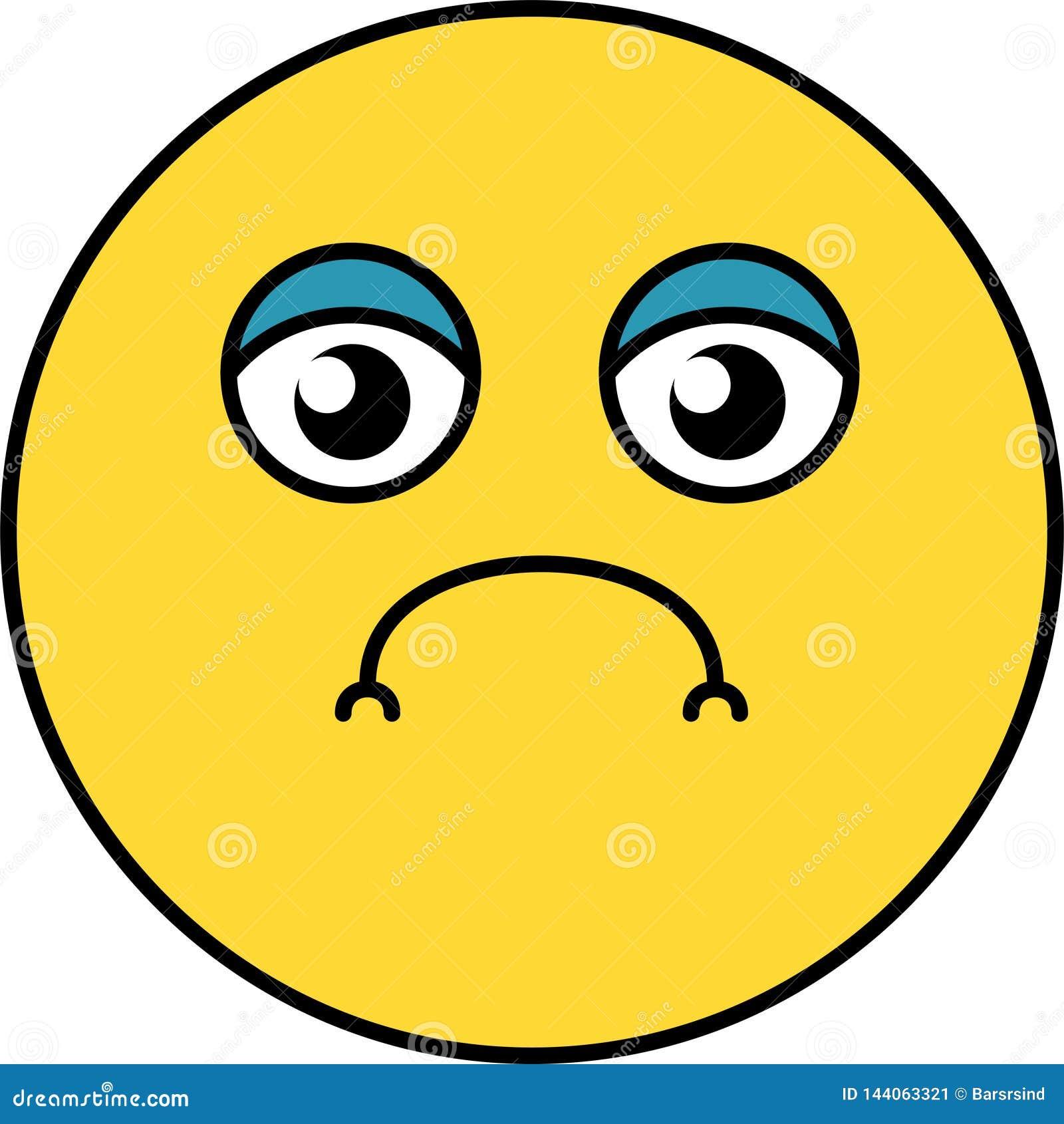 Sad Somber Emoji Illustration Stock Vector Illustration Of