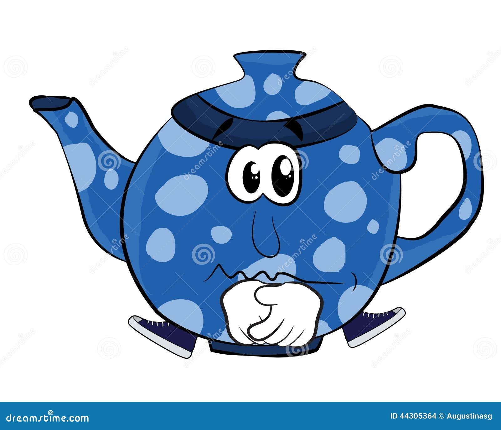 Green Cartoon Teapot