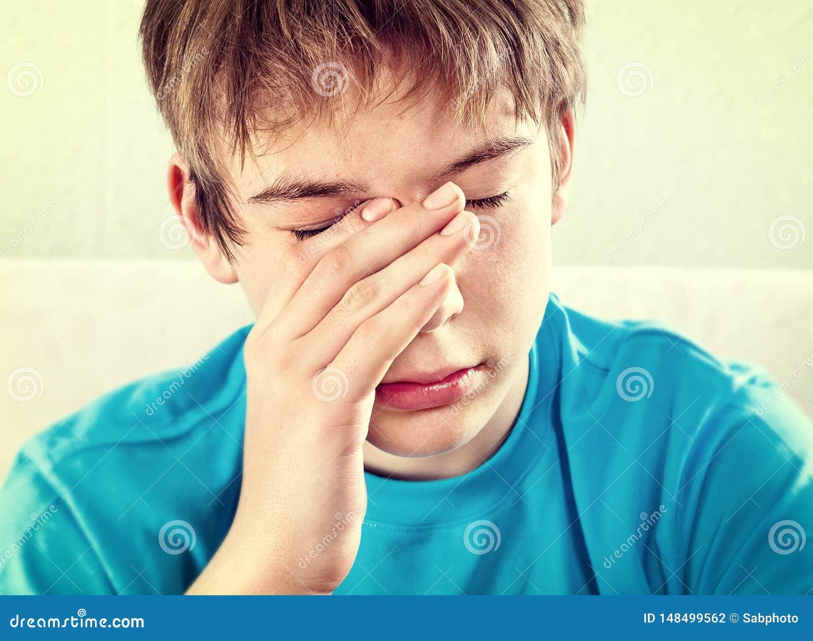 Sad Teenager closeup