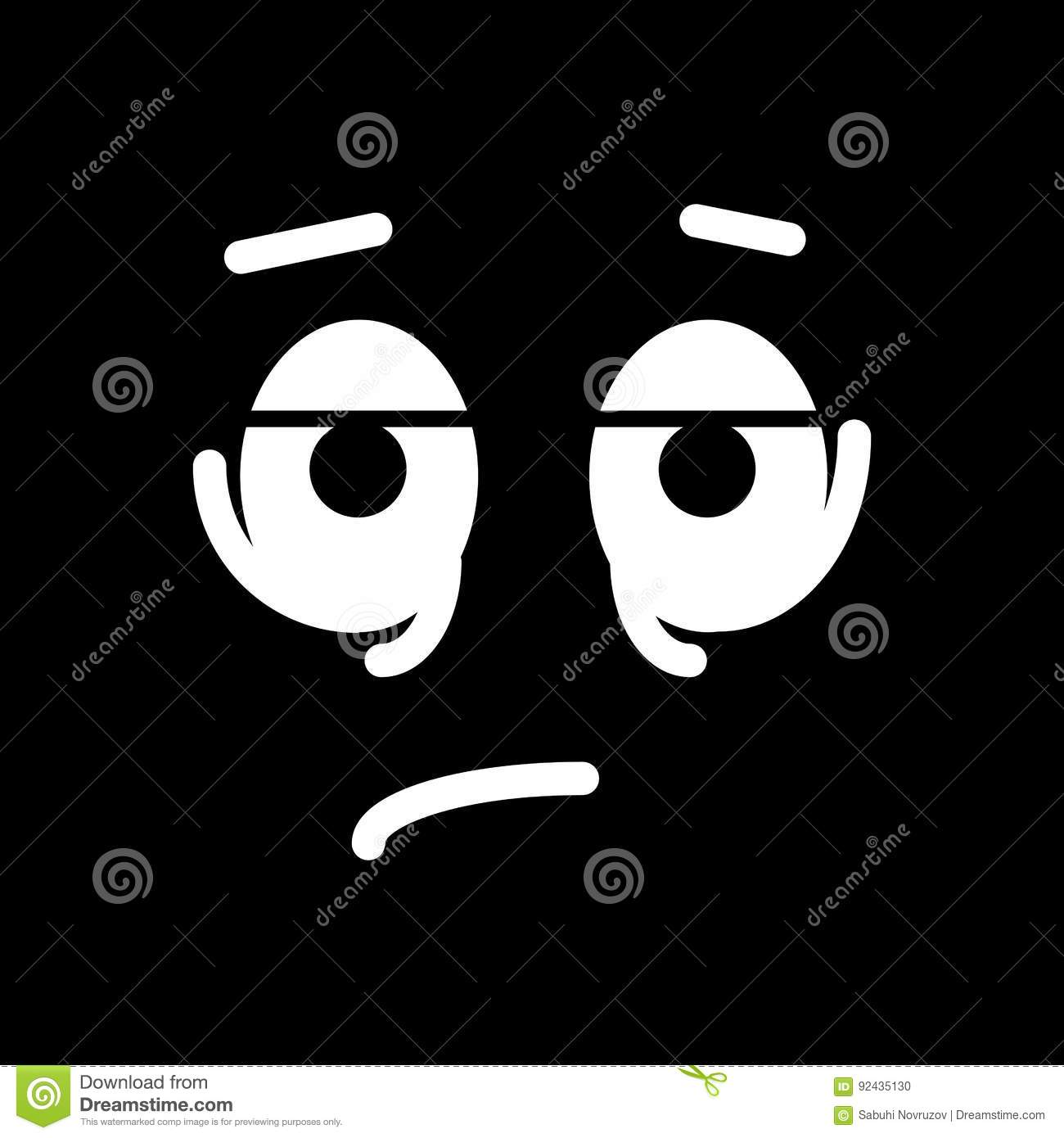 Line Drawing Smiley Face : Grief cartoons illustrations vector stock images