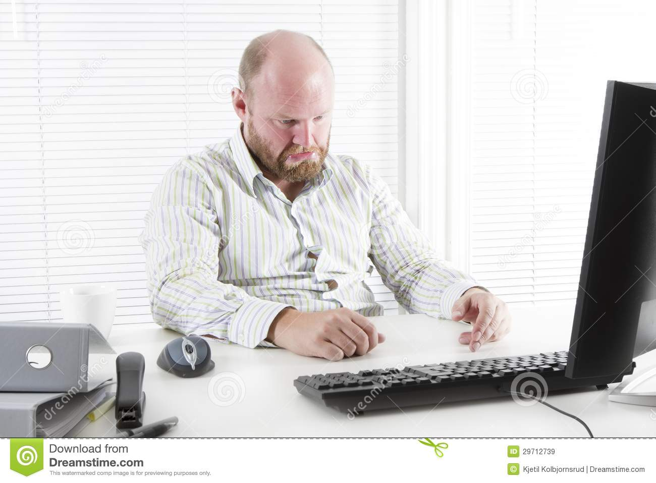 Sad Man At The Office Royalty Free Stock Images - Image ...