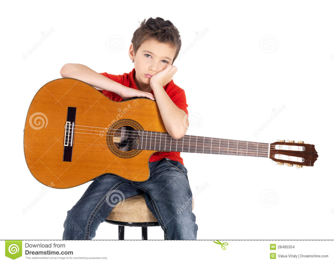 Sad Boy with Guitar