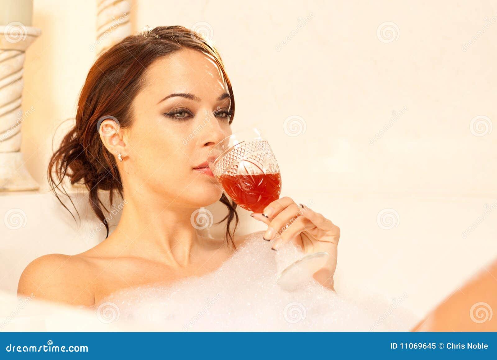 Woman Drinking Wine Sad