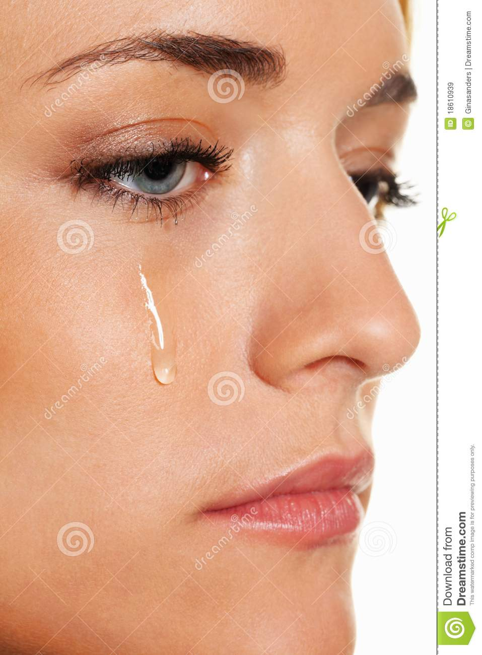 sad woman weeps tears  photo icon fear and g royalty free stock images