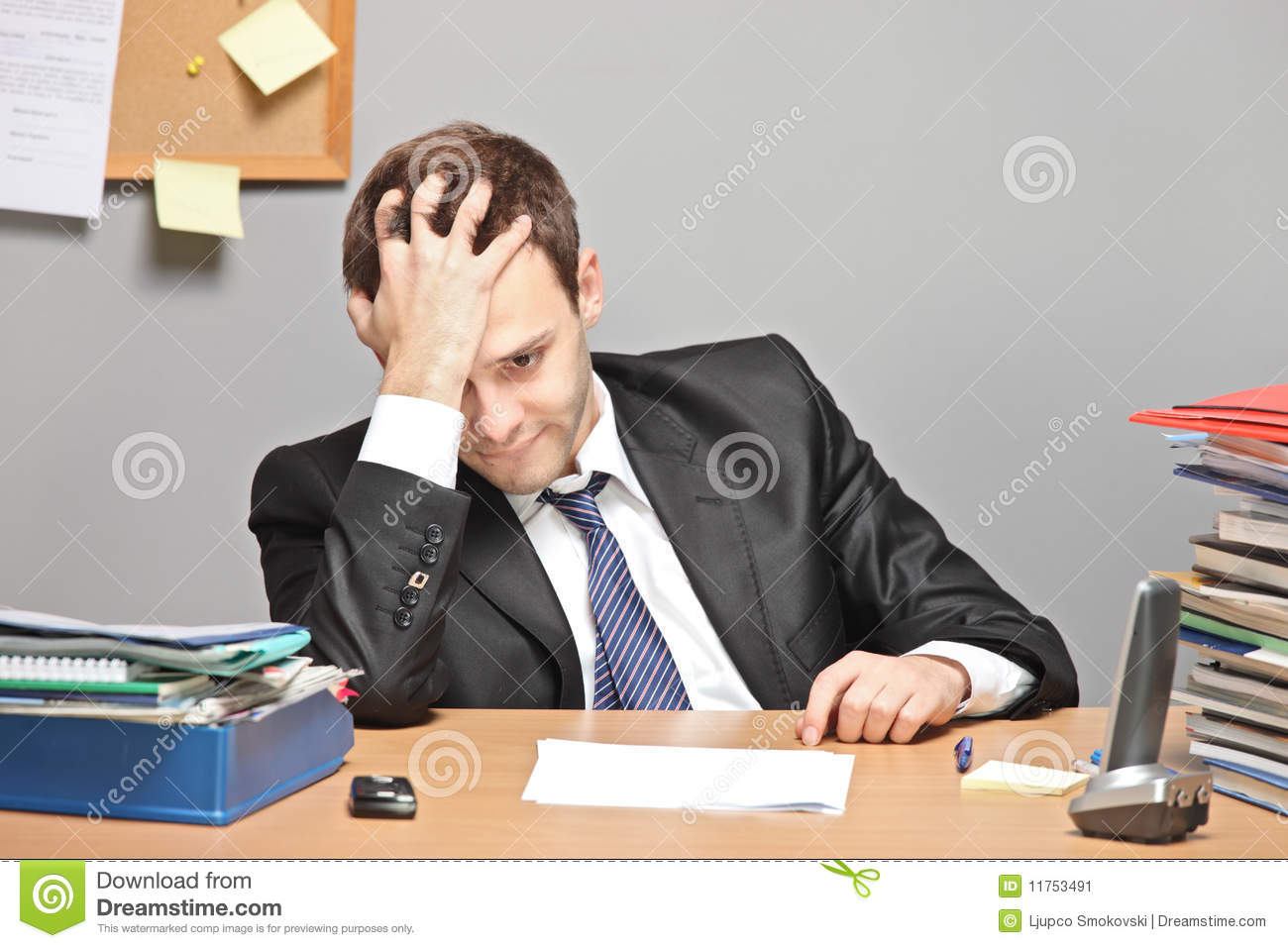 Sad Worker Stock Image - Image: 11753491