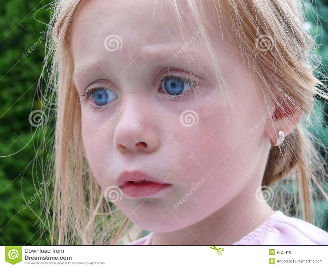 Sad young girl stock photo. Image of attractive, person ...