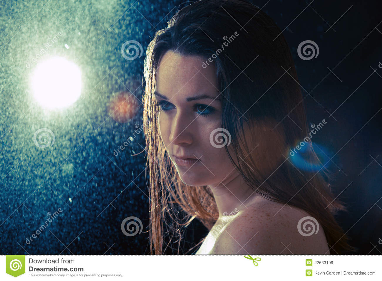 Sad Young Woman In The Rain Royalty Free Stock Images ...