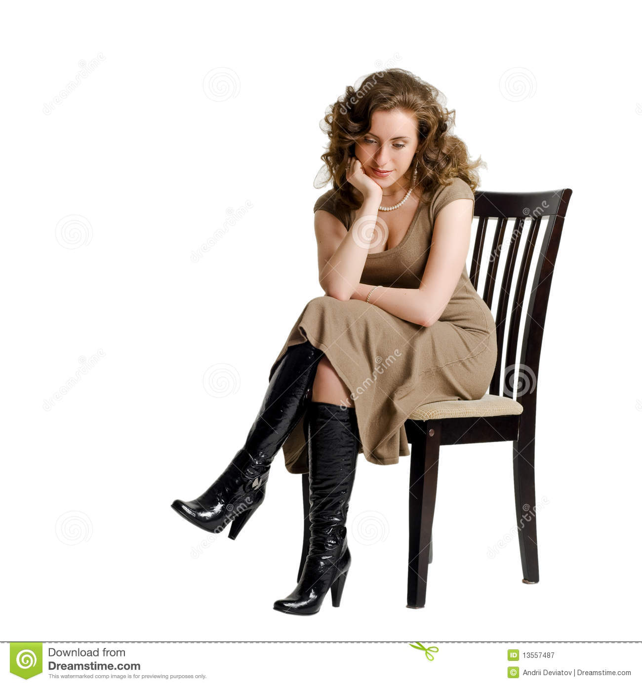 A sad young woman sitting on a chair stock image image for Sitting chairs