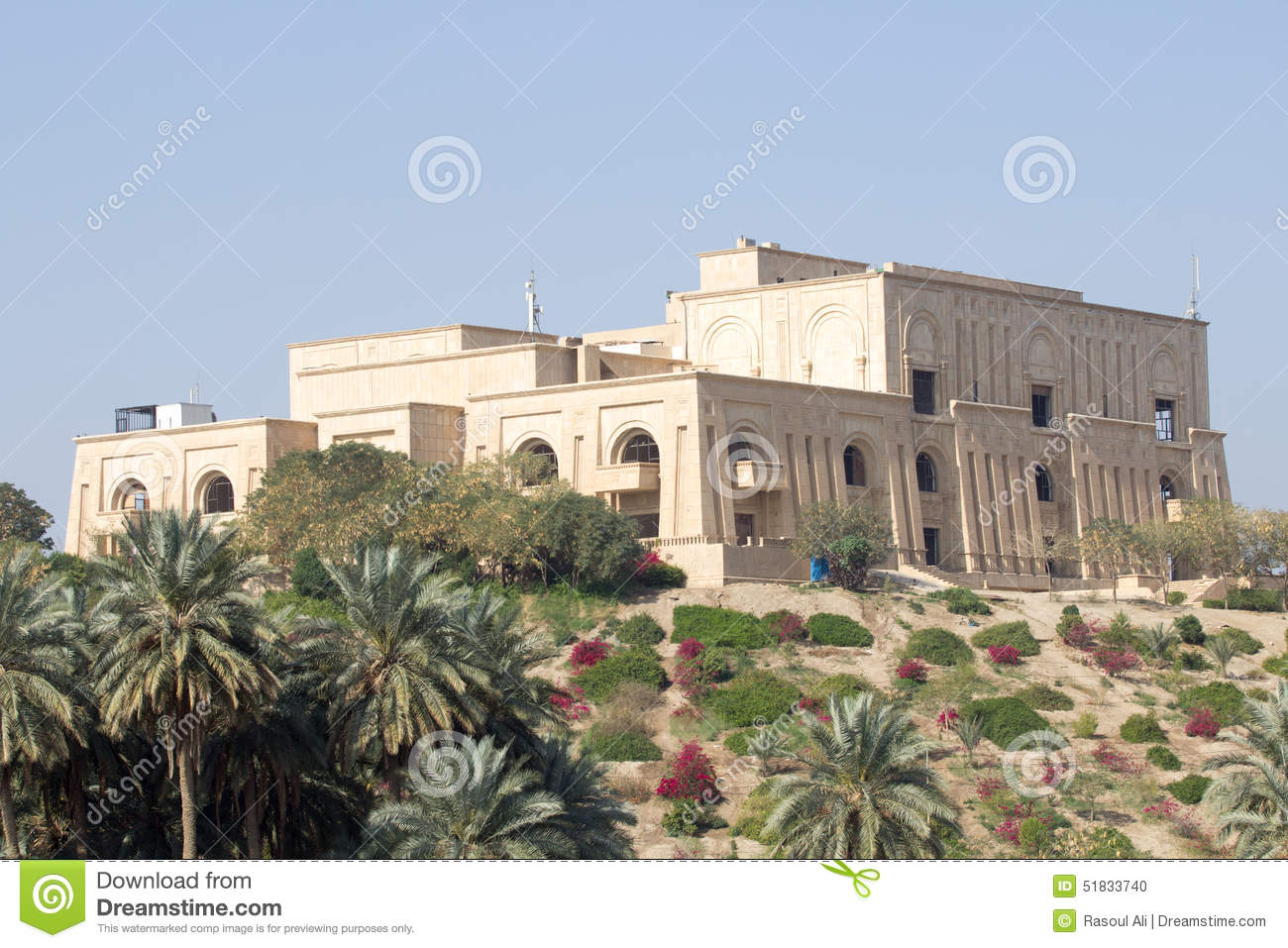 Former Saddam Hussein Palace, View Through Babylonian ...