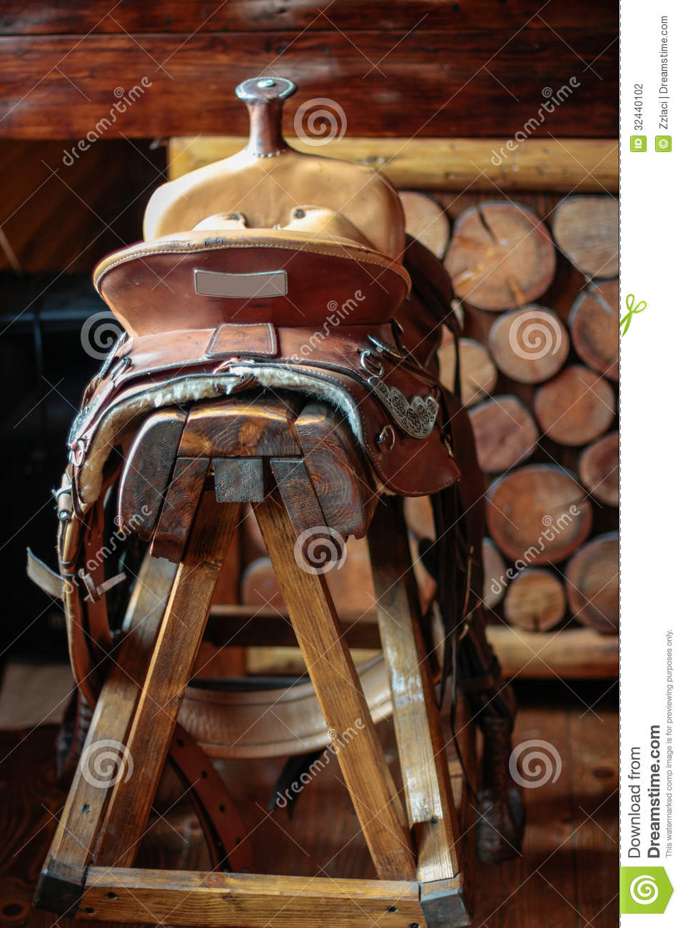 Saddle Bar Stool Stock Photo Image Of Pony Counter