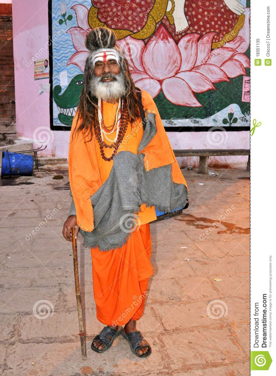 Sadhu (heilige mens) in Varanasi, India